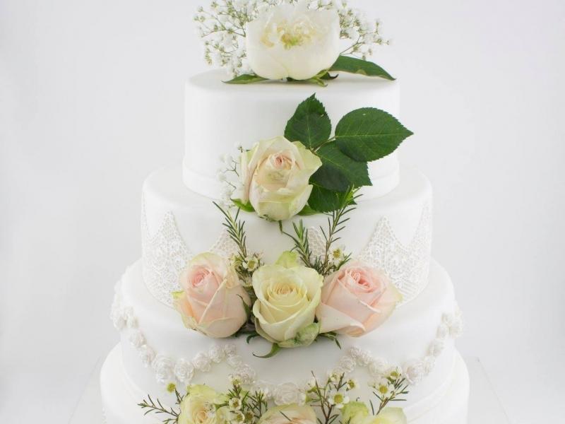 Сватбена живи цветя 4